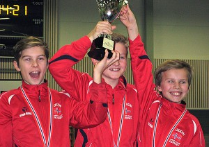 Gull til Fredrik, Andreas og Christian kata gutter ungdom
