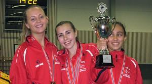 Gull til Camilla, Ronja og Mariam i kata jenter, åpen klasse
