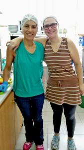 Tonia Stavroulakis og Angie, sistnevnte ekspert på sjømat